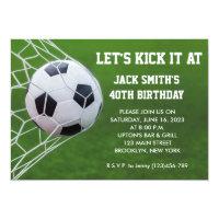 Soccer Custom Birthday Invitation
