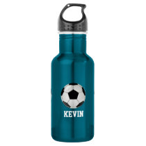 Soccer Custom Stainless Steel Water Bottle
