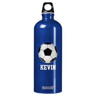 Soccer Custom Water Bottle