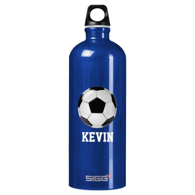 soccer custom water bottle zazzle