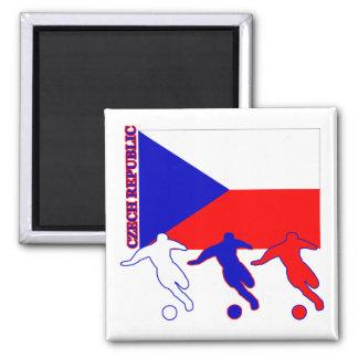 Soccer Czech Republic 2 Inch Square Magnet