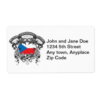 Soccer Czech Republic Shipping Label