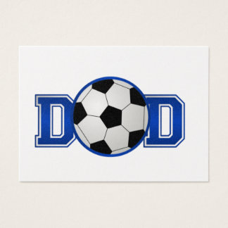 Soccer Dad Blue Business Card