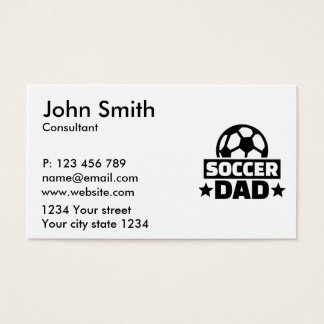 Soccer dad business card