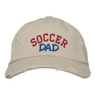 SOCCER, Dad - Customized - Customized Embroidered Baseball Hat