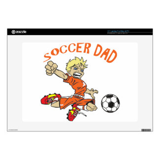 """SOCCER DAD DECALS FOR 15"""" LAPTOPS"""