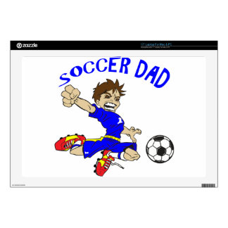 """SOCCER DAD DECALS FOR 17"""" LAPTOPS"""