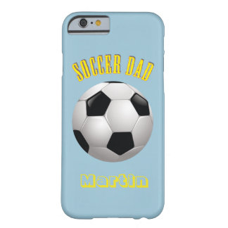 Soccer Dad Monogram Barely There iPhone 6 Case