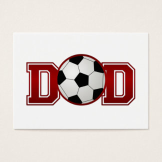 Soccer Dad Red Business Card
