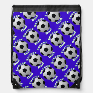 Soccer Dad Repeating Pattern Drawstring Bag