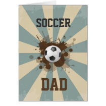 Soccer Dad Retro Design Card