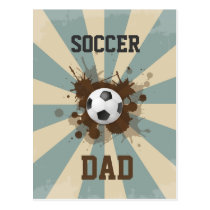 Soccer Dad Retro Design Postcard