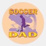 SOCCER DAD ROUND STICKER
