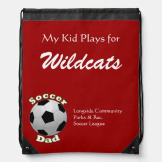 Soccer Dad Team Pride Drawstring Bag