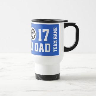 Soccer dad travel mug   Customizable team name