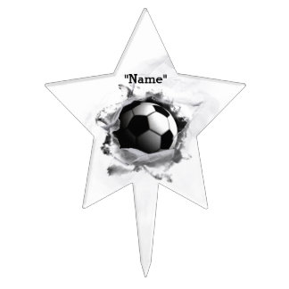 soccer decoration cake topper