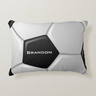 Soccer Design Accent Pillow