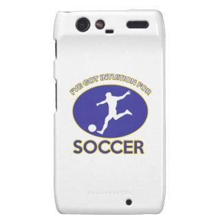 soccer design motorola droid RAZR covers