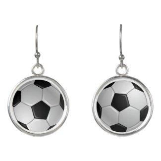 Soccer Design Drop Earrings