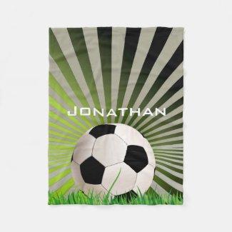 Soccer Design Fleece Blanket