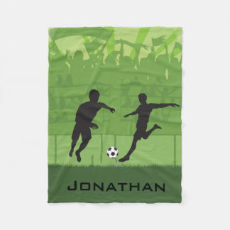 Soccer Design Fleece Blanket