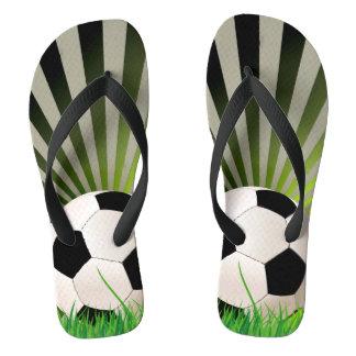 Soccer Design Flip Flops