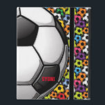 """Soccer Design iPad 2/3/4 Case<br><div class=""""desc"""">Soccer Design iPad 2/3/4 Case with customizable text.  For no text,  delete sample text and leave blank.</div>"""