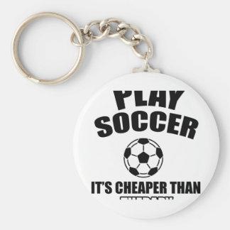 soccer design keychain