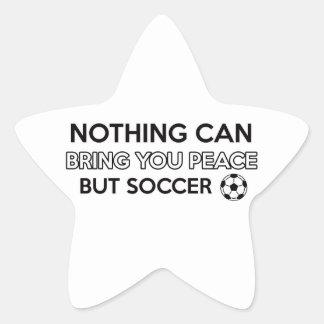 soccer design star sticker