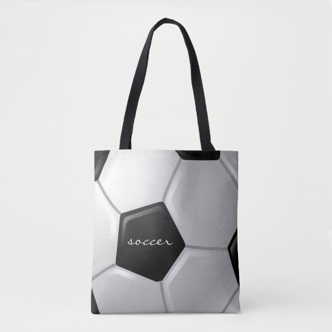 Soccer Design Tote Bag