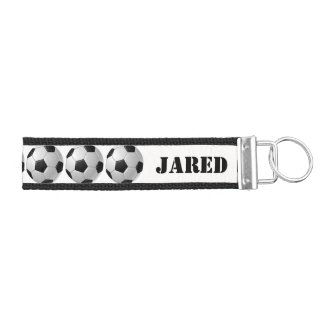 Soccer Design Wrist Key Chain