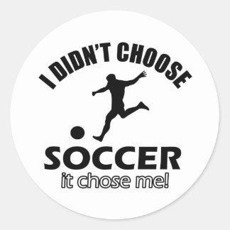 soccer Designs Classic Round Sticker