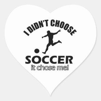 soccer Designs Heart Sticker
