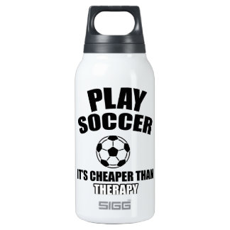 Soccer designs insulated water bottle