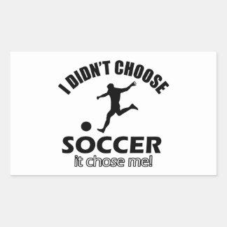 soccer Designs Rectangular Sticker