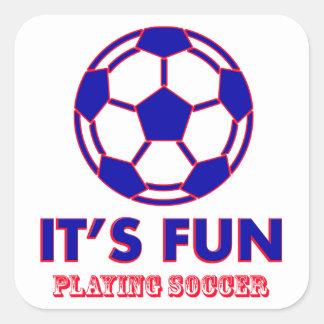 soccer Designs Square Sticker