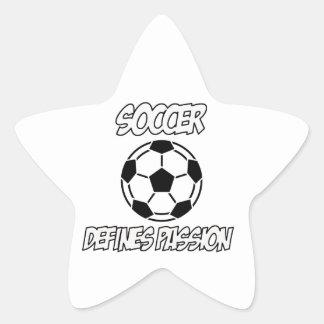 SOCCER designs Star Sticker
