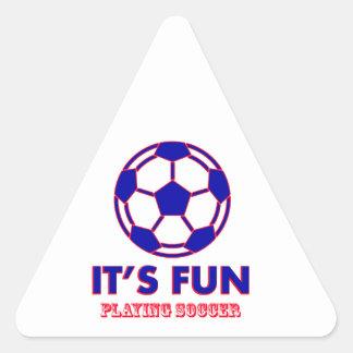 soccer Designs Triangle Sticker