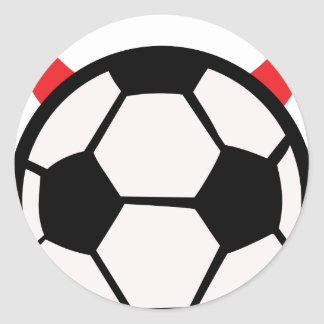 soccer devil classic round sticker