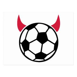 Soccer devil postcard