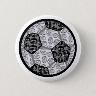 Soccer diamonds pinback button