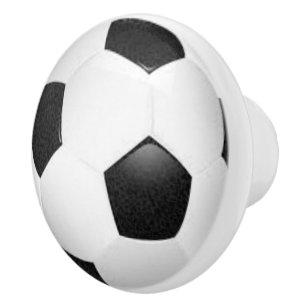 Soccer Drawer Sport Pull Theme Ceramic