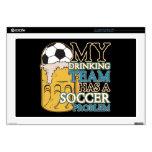 "Soccer Drinking Team 17"" Laptop Skins"