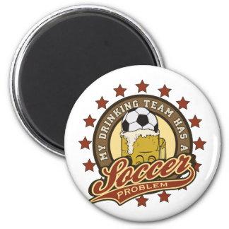 Soccer Drinking Team 2 Inch Round Magnet
