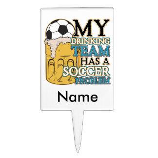 Soccer Drinking Team Cake Topper