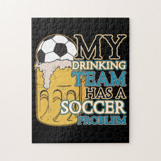 Soccer Drinking Team Jigsaw Puzzle