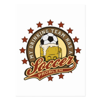 Soccer Drinking Team Postcard