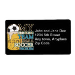 Soccer Drinking Team Shipping Label