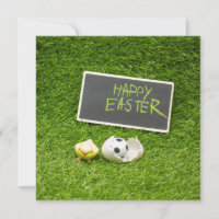 Soccer Easter with foot ball and egg shell