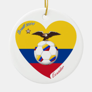 """Soccer """"ECUADOR"""". Ecuadorian National Soccer Team Ceramic Ornament"""